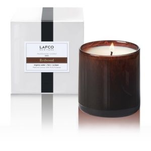Lafco Handblown Glass Jar Candle - REDWOOD - NIB